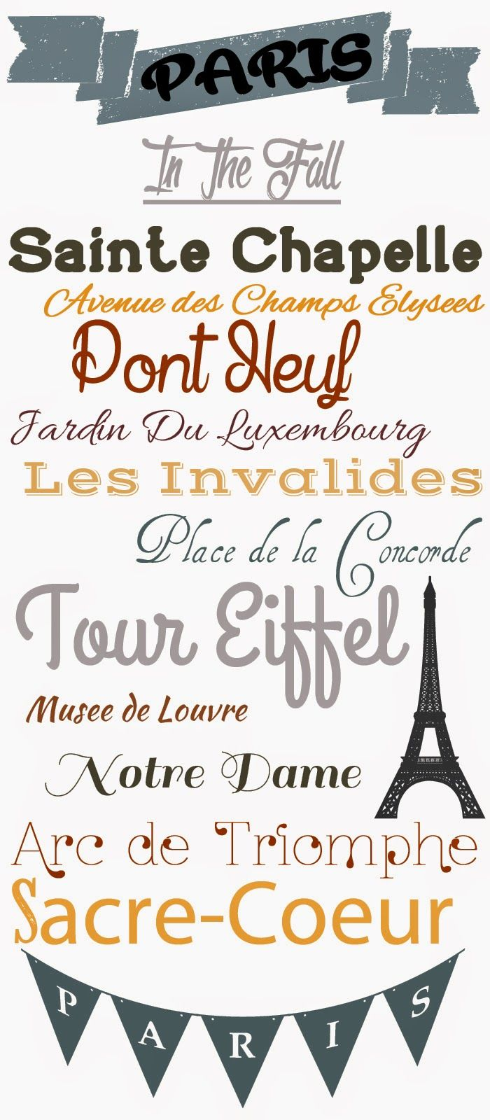 Paris In the Fall Free Fonts || MajHoffTakesAWife  ~~ {16 free fonts w/ links}