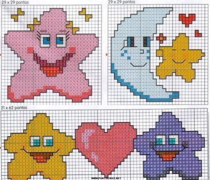 Estrellas | Punto de cruz - Colección de patrones punto de cruz gratis.