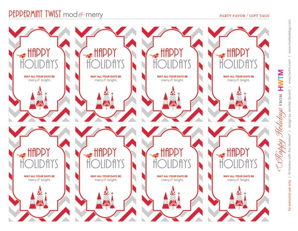 FREE Holiday Printables: Peppermint Twist // Hostess with the Mostess ...