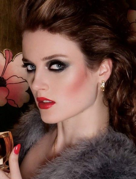 This Should be Your New Year's Eve Makeup.  [makeup by Chanel pro Julie Cusson; photography by Sylvain Blais. From Dress to Kill magazine, Dec 2013]