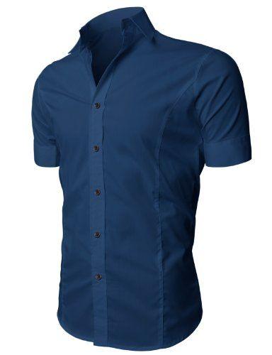 H2H Men`s Wrinkle Free Slim Fit Dress Shirts $27.99 (save $15.00)