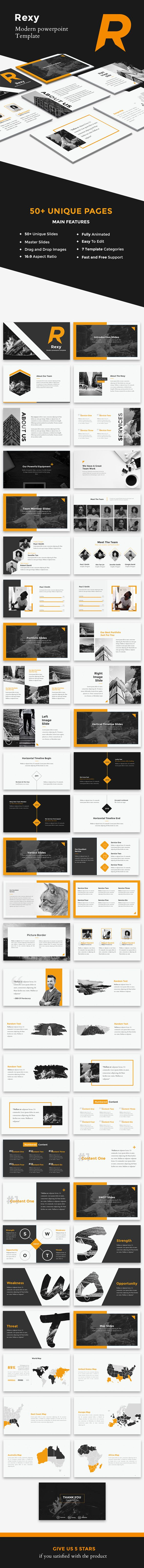 Rexy - Modern PowerPoint Template - Creative PowerPoint Templates