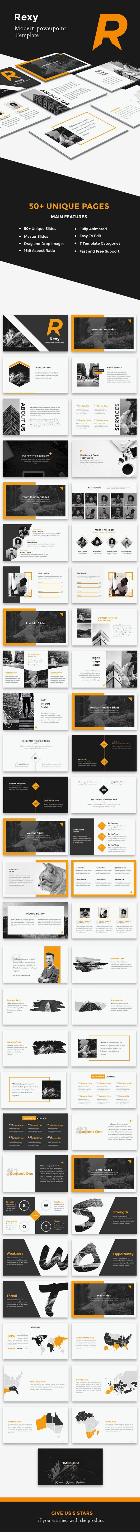 Rexy - Modern PowerPoint Template - Creative PowerPoint Templates
