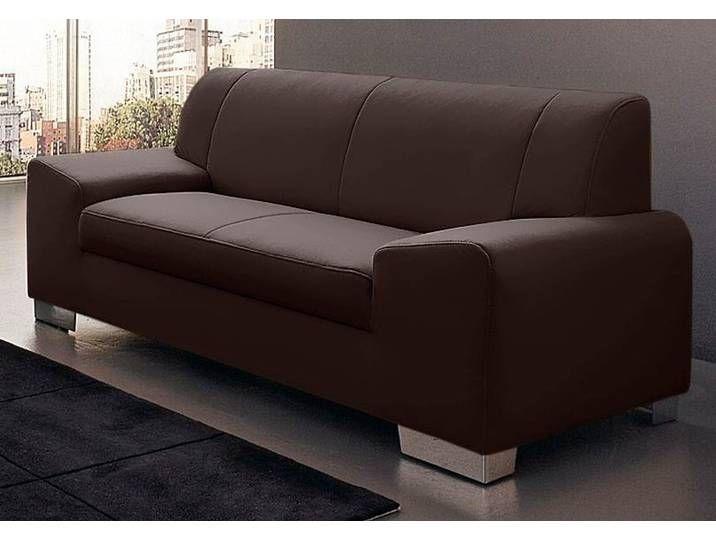 Domo Collection 2 Sitzer Braun Luxus Kunstleder Sofa Home