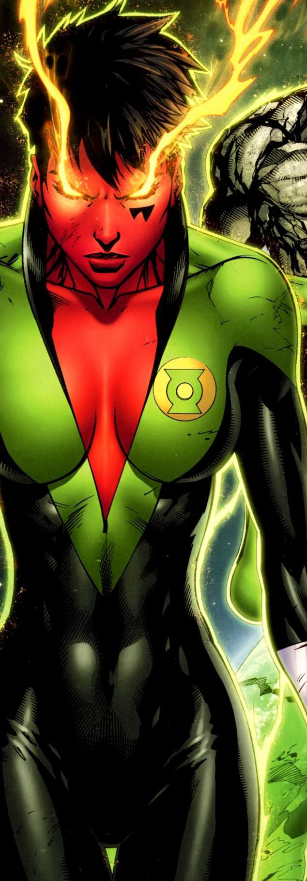 Soranik Natu is generally seen as a combat medic of sorts, stemming from her pre-Green Lantern occupation as a neurosurgeon on the planet Korugar. While she is a decorated hero in her own right, Natu is perhaps still best known as the daughter of Sinestro & Arin-Sur. Initially reluctant to wear the power of the Green Lantern Ring, Soranik eventually accepts her role as a member of the Corps, & has gone on to become one of its most respected members.