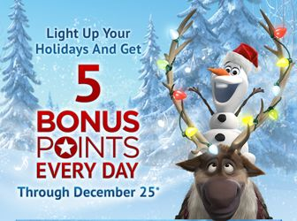 25 Days of FREE Disney Movie Reward Points 12/1-12/25