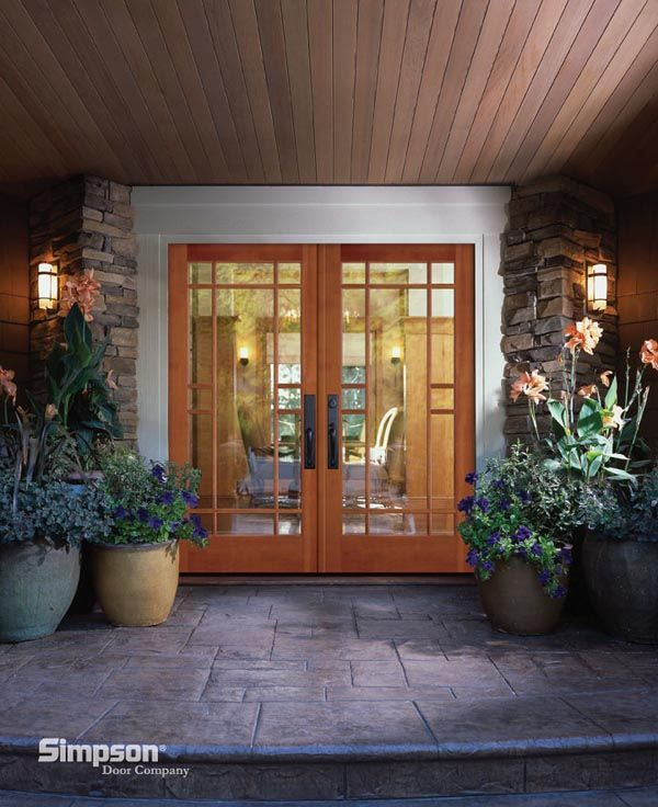 Simpson French Doors 37151, for Master Bedroom onto patio, hardware faces interior
