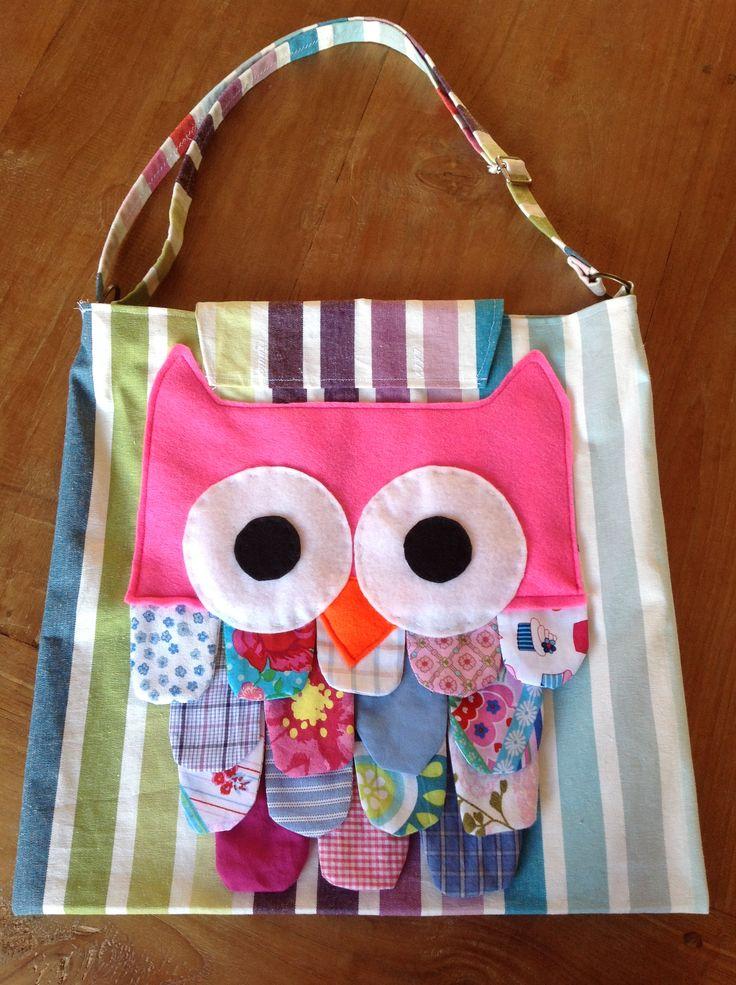 Stevige Stoffen Voor Tassen : Owl bag tas met uil gemaakt van vilt en lapjes onze