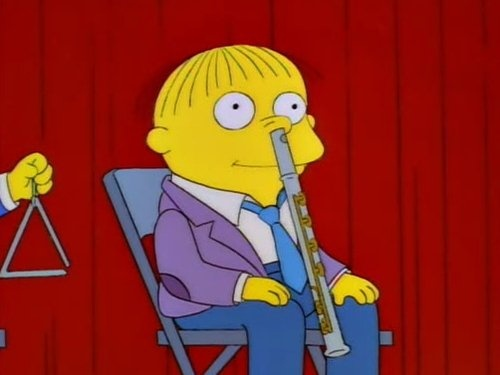 ...And with a flute up his nose, Ralph Wiggum.