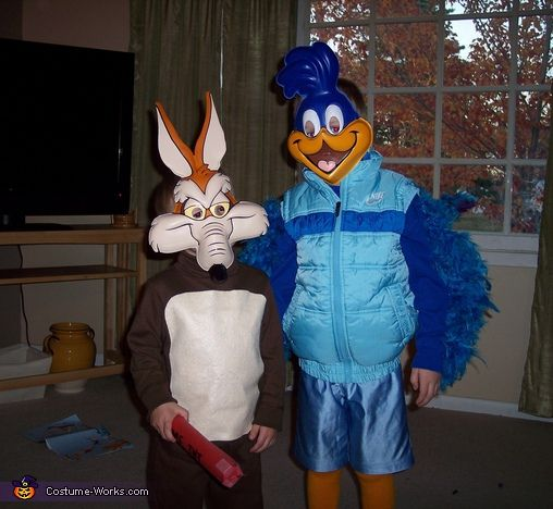 Roadrunner Amp Wile E Coyote Costume Coyotes Kid And