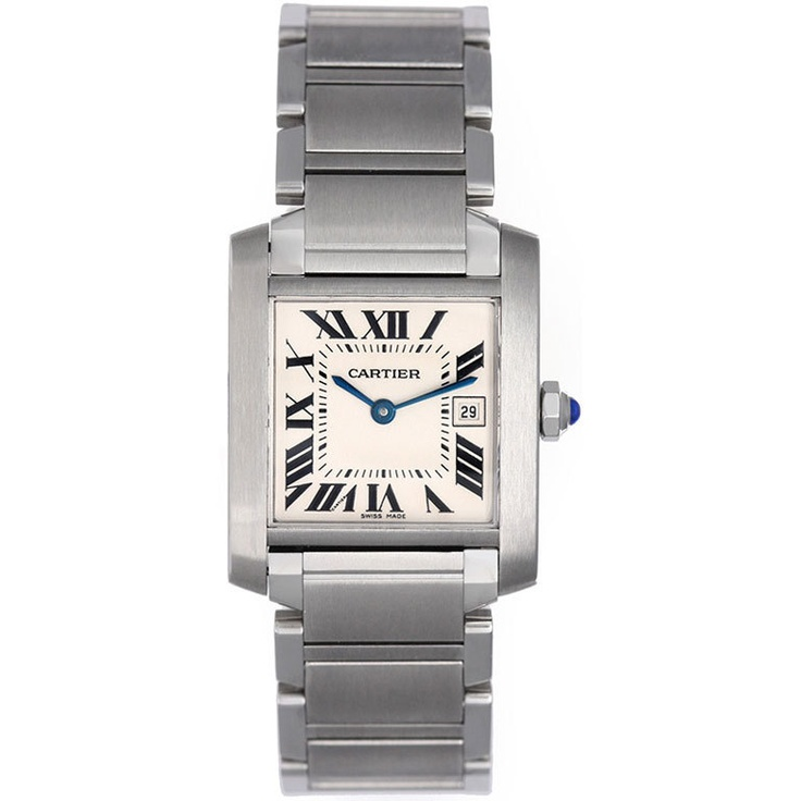 CARTIER Tank Francaise Classic Midsize Stainless Steel Watch