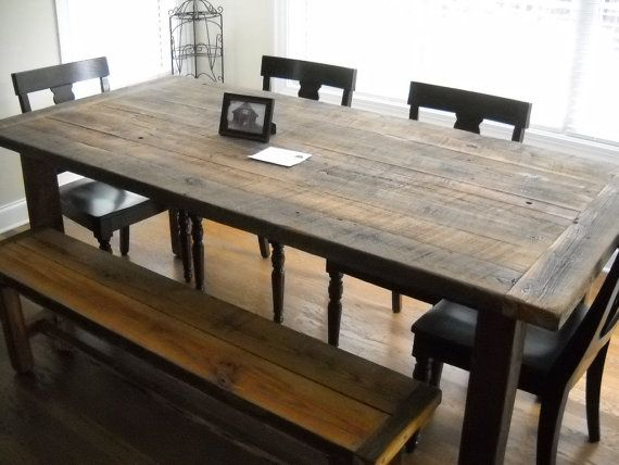 Barn wood dining room table