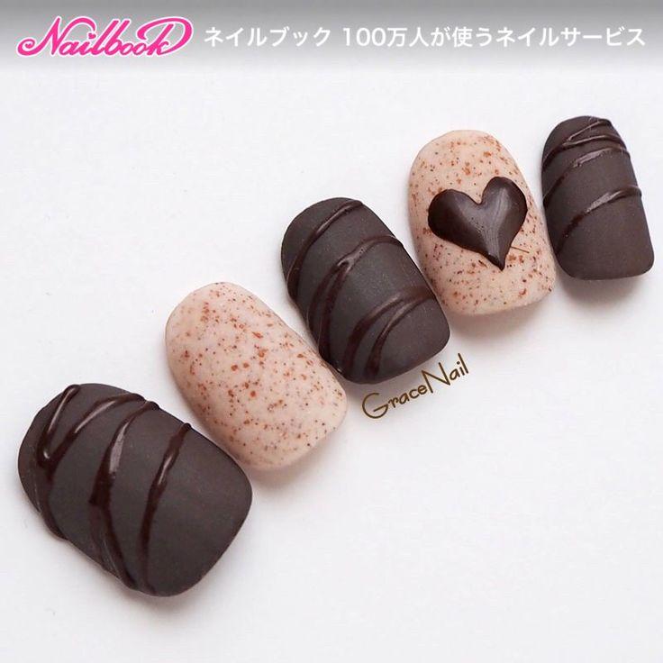 チョコレートネイル|ネイルデザインを探すならネイル数No.1のネイルブック