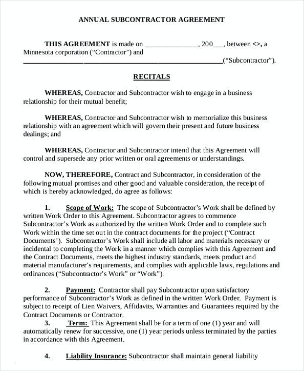 49 Subcontractor Agreement And What You Should Include Subcontractors Business Template Agreement