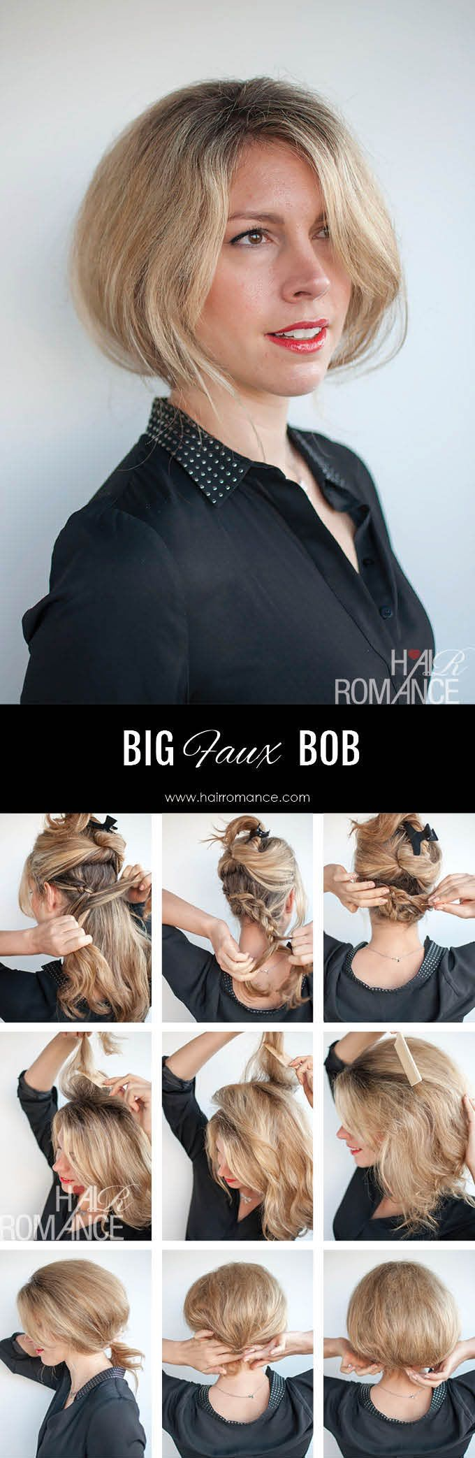 Faux bob hairstyle tutorial – try out short hair before the big chop