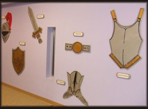 Great wall display of the Armor of God.