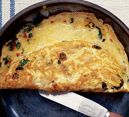 Chilli cheese omelette. A quick and easy classic with added spice - just six ingredients too.