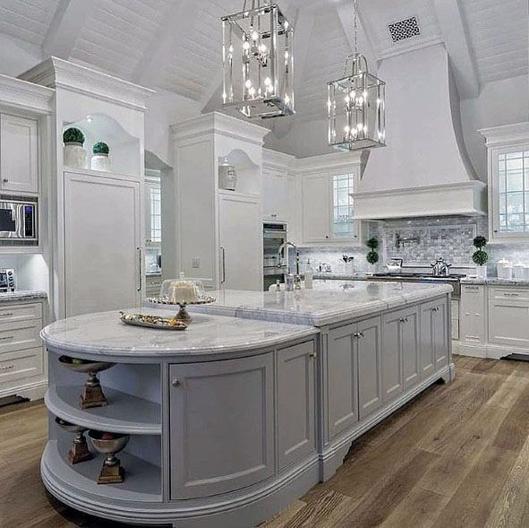 Top 70 Best Vaulted Ceiling Ideas High Vertical Space Designs Gorgeous Kitchens Vaulted Ceiling Kitchen White Modern Kitchen