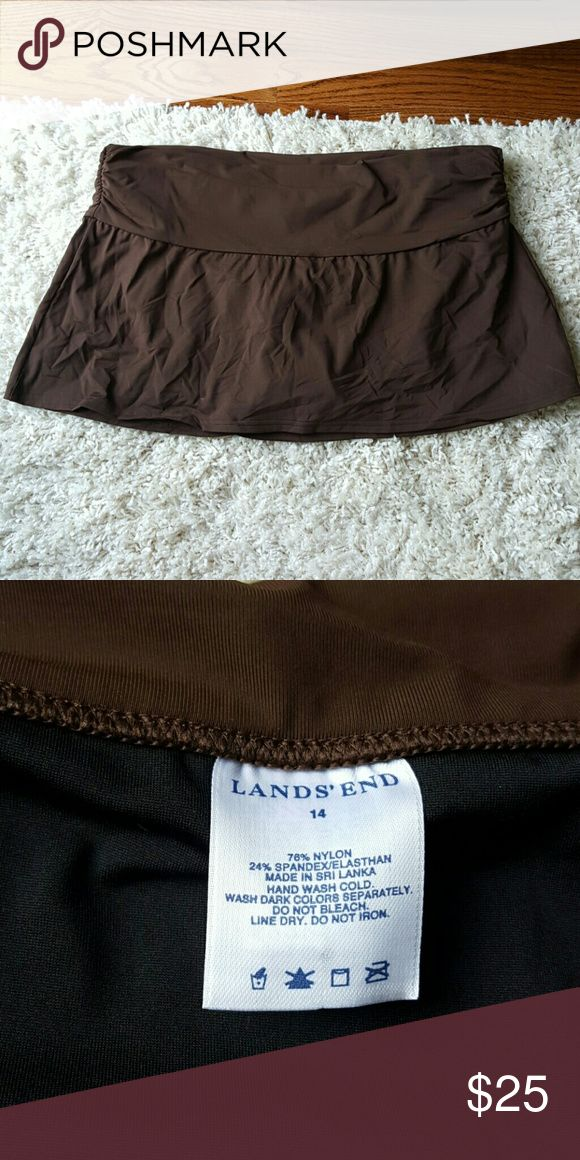 NWOT Lands End swimsuit bottom Size 14 Brown skirted swimsuit bottom. Never worn. Pic 3 is a different color of same bottom. Nonsmoking home. Lands' End Swim