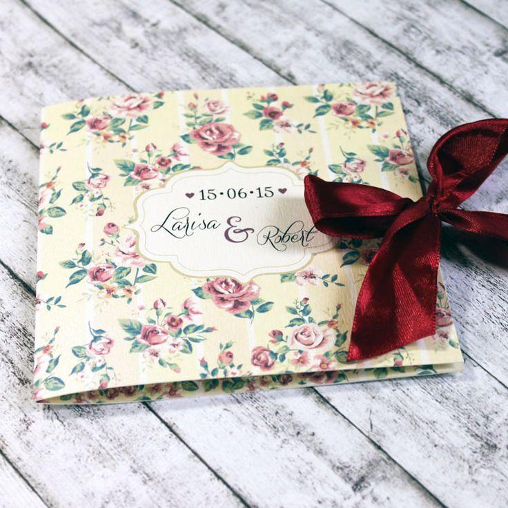 Invitație de nuntă Shabby chic crem http://designbyclarice.ro/