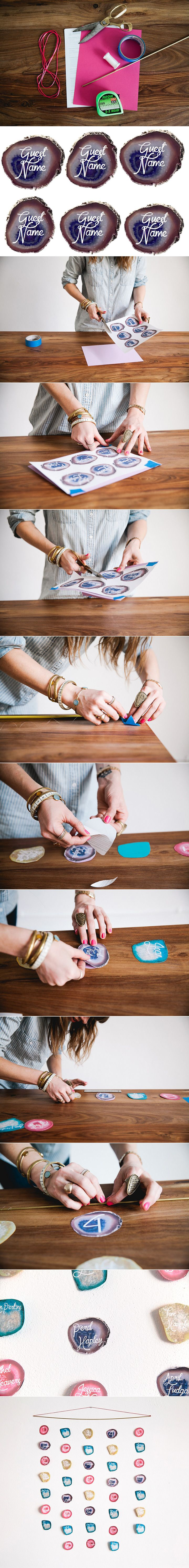 DIY Agate Wedding Placecards ~  we ❤ this! moncheribridals.com