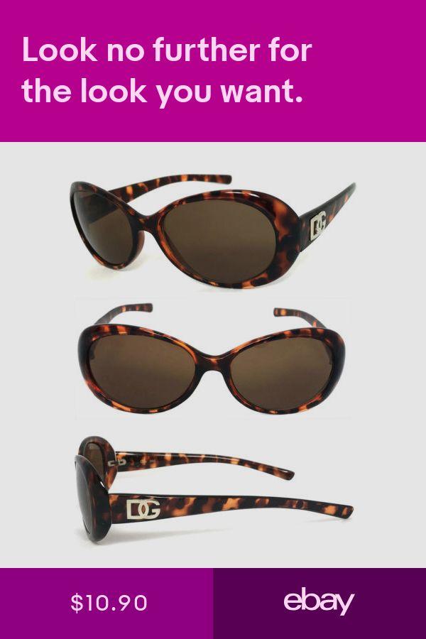 Retro Oval DG Mod Sunglasses UV400 Tortoise Brown Frame DG64