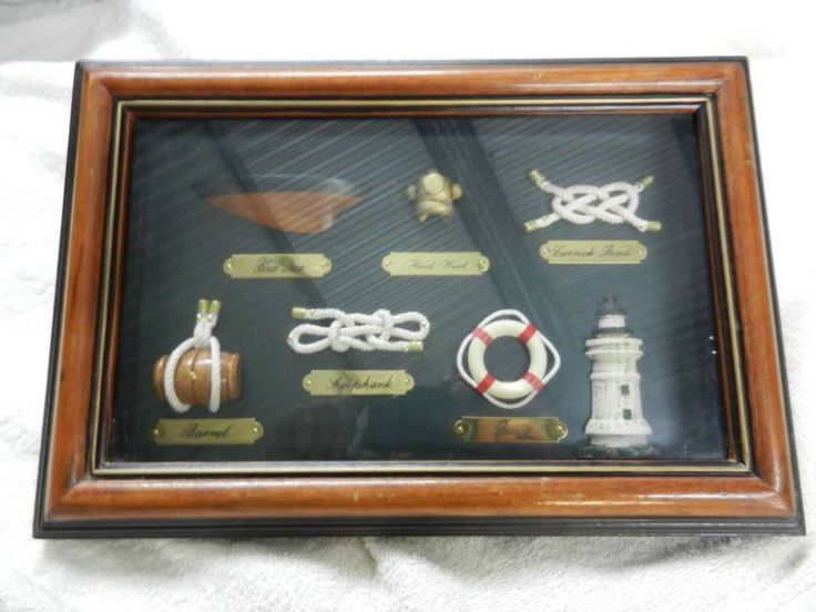 Nautical Decor Framed Shadow Box 3 Sailing Rope Knots Brass | Collectables | Gumtree Australia Gawler Area - Freeling | 1133045732