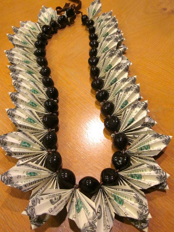 OMG that Money Lei by PCbyMarilyn on Etsy