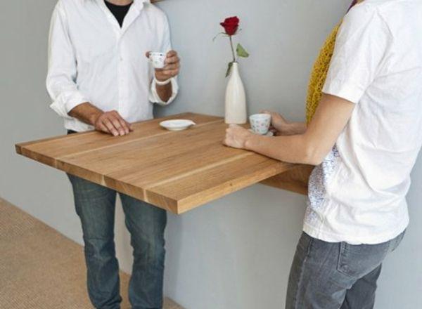 Wandklapptische Klappbare Holztische Fur Kleine Raume Wandklapptisch Wandtisch Wandtisch Klappbar