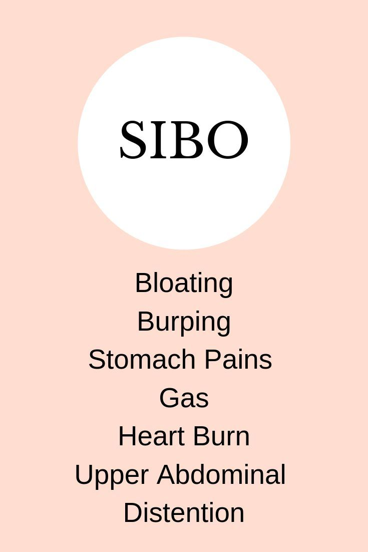 Sibo has many uncomfortable symptoms ranging from bloating