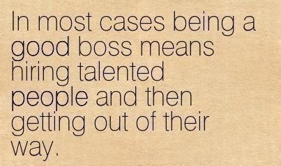 A good boss