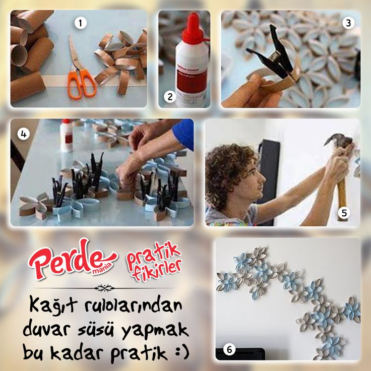 Kağıt rulolardan duvar süsü yapmak bu kadar pratik. Fikirlerimiz kadar pratik perdelerimize de göz atmak için www.perdemania.com.tr 'yi ziyaret edin :)  #pratik #fikir #practical #ideas #kağıt #rulo #duvar #süs