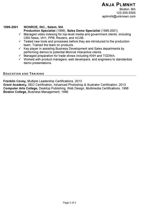 The 25+ best Chronological resume template ideas on Pinterest - sample resume account executive