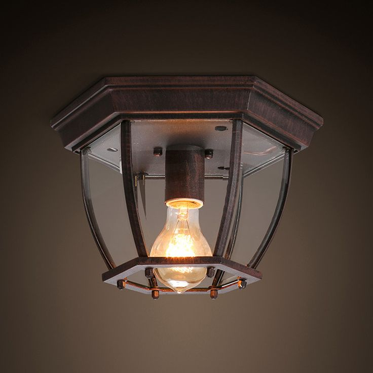 American Retro Rural Iron Led Ceiling Lights