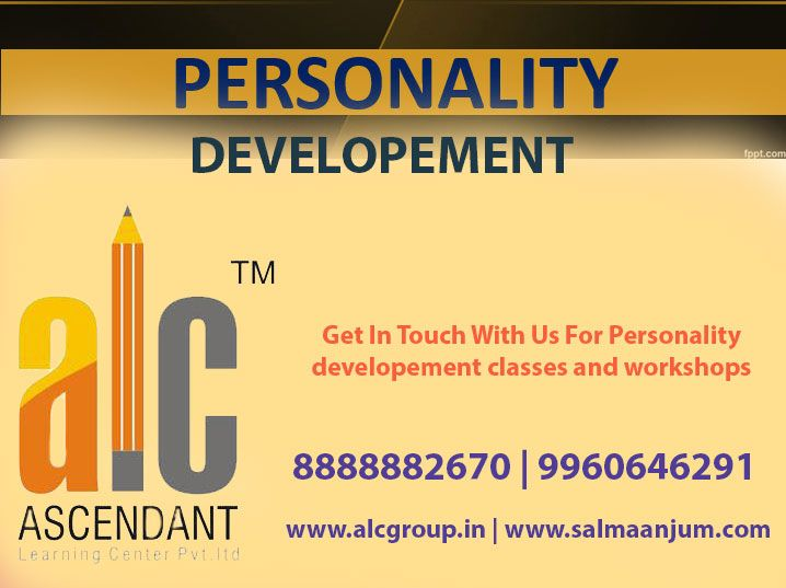 Are you thinking about making a new change in your personality to achieve your goals? Don't just think.. Do it.. #Personality Development is really important in one's career because it plays a major role in achieving success.. A developed personality with a positive attitude is always very important for having a bright future. With the right personality and attitude, it becomes easy to achieve what you have dreamed.  Get in touch with ALC Group Nagpur  Visit us at: http://salmaanjum.com/
