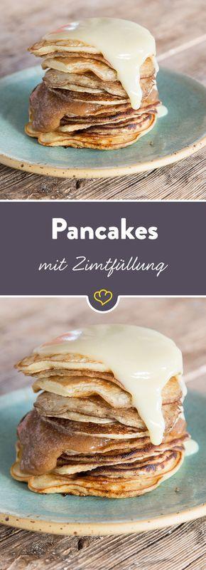 Pancake oder Zimtschnecke? Heute gibt es Pancake und Zimtschnecke in einem - einem Zimtcake aus der Pfanne quasi. Frühstücksliebe Mal zwei!
