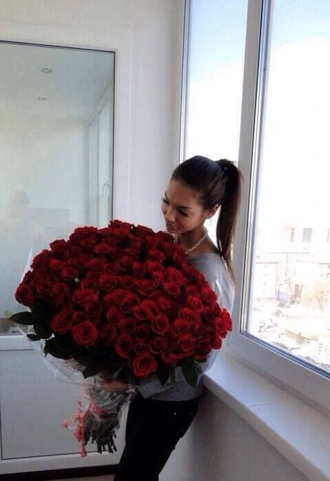 Piękne róże, jak w romantycznym filmie.