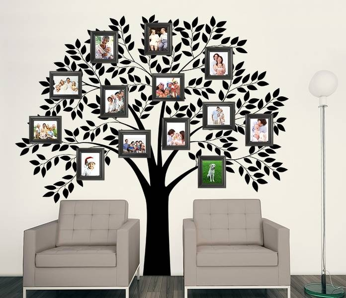 I Like The Symmetry Of This, Family Tree Wall Mural For Textured Walls Part 90