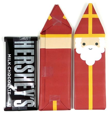 Feast of St. Nicholas Candy bar wrappers  Hershey bar, finished wrappers                                                                                                                                                                                 More