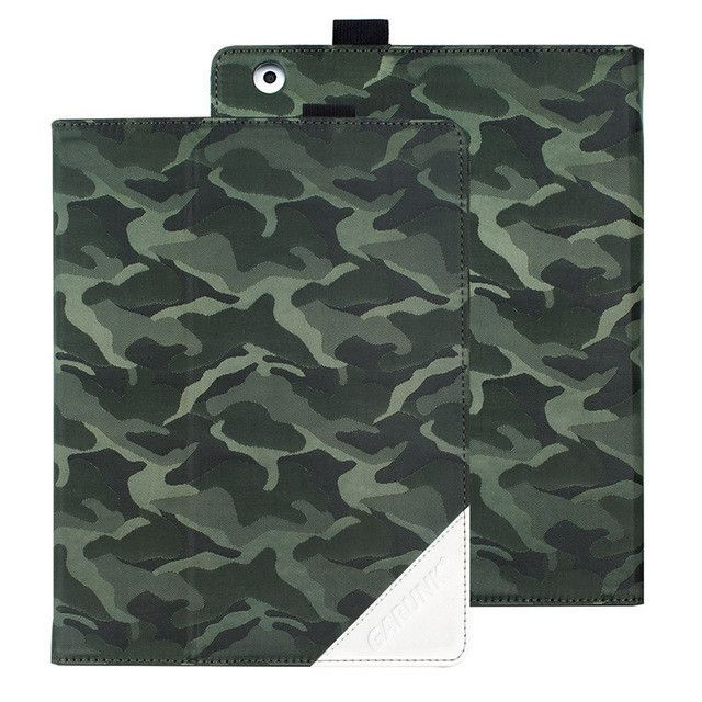 Case for iPad 2 3 4, GARUNK Camouflage Gradient Oxford Cloth Folio Stand Caser Auto Wake Up