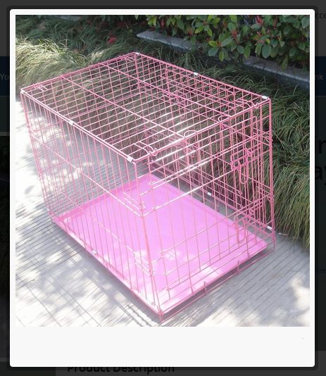 48″ #Pink #Pet #Folding #Wire #Dog #Cat #Crate #Cage Kennel w/ABS Tray http://house4pets.com/product/48-pink-pet-folding-wire-dog-cat-crate-cage-kennel-wabs-tray/  #USA #Oregon #WestLinn