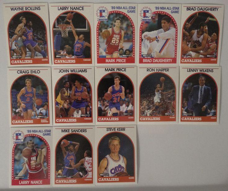 1989-90 Hoops Cleveland Cavaliers Team Set Of 13 Basketball Cards (Missing Keys) #ClevelandCavaliers