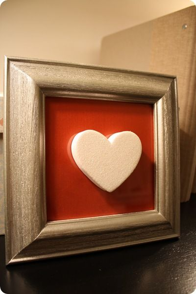 DIY Heart in Frame V-Day Decoration: Diy Heart, Crafts Ideas, Thrifty Decor, Target Dollar Spots, Valentine'S S, Valentines Day, Candy Heart, Frames Ideas, Silver Frames