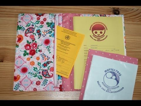 Hüllen für Vorsorge-Heft und Mutterpass nähen - U-Heft-Hülle - YouTube