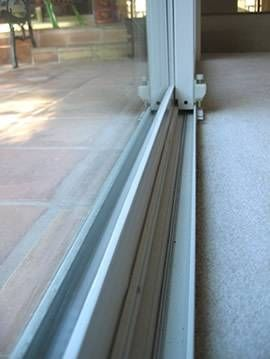 Is your #sliding #door hard to open? Keeping the door track clean will help prevent that from happening. How to Clean Sliding Door Tracks