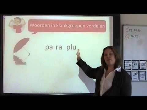 Spelling: woorden in klankgroepen verdelen