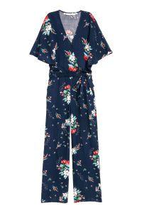 Patterned Jumpsuit   Dark blue/floral   WOMEN   H&M US