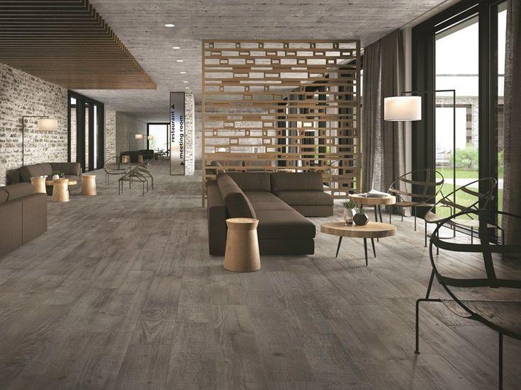 Pavimento in gres porcellanato effetto legno SOUL GREY Collezione Soul by CERAMICHE KEOPE