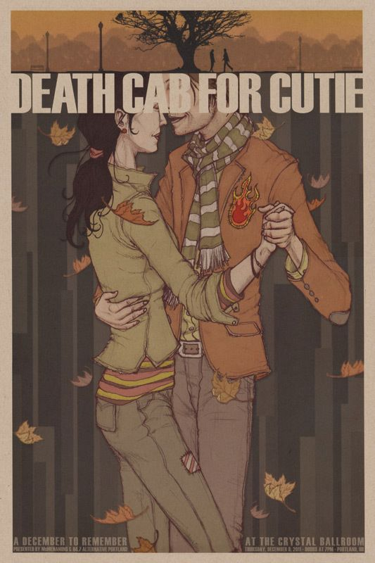 Death Cab For Cutie concert poster  Advertising, Graphic Design, Illustration
