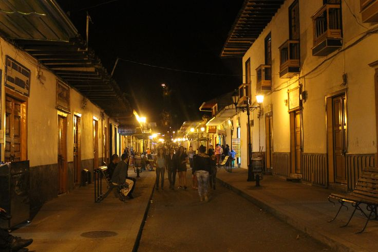 Salento street view at night